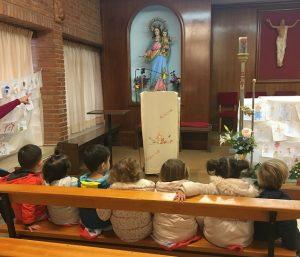 Visita de la guarde a la capilla