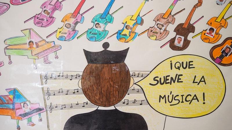 Orquesta Infantil: nuestro mural para Don Bosco