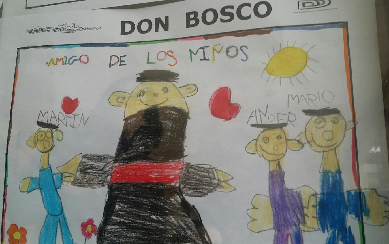 Exposición de dibujos sobre Don Bosco