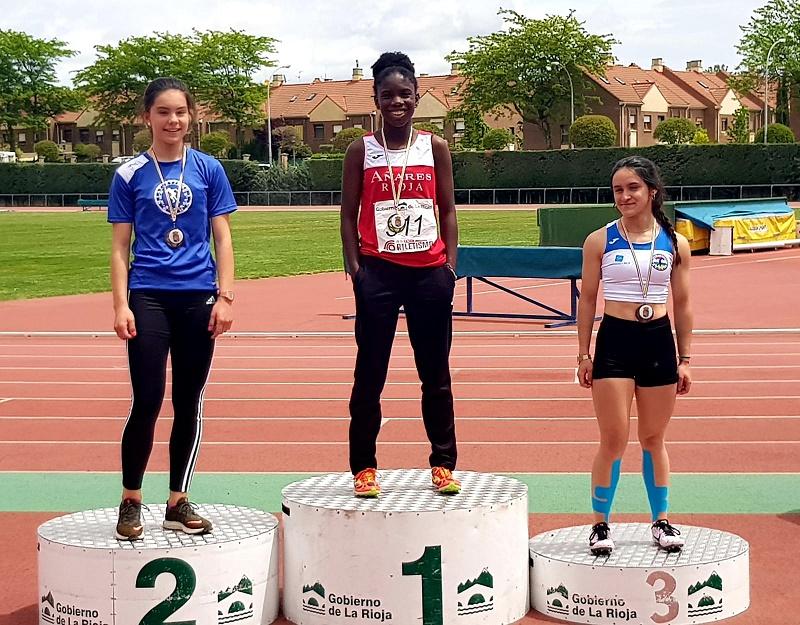 Irene Raimi, campeona de La Rioja de velocidad 100 metros libres
