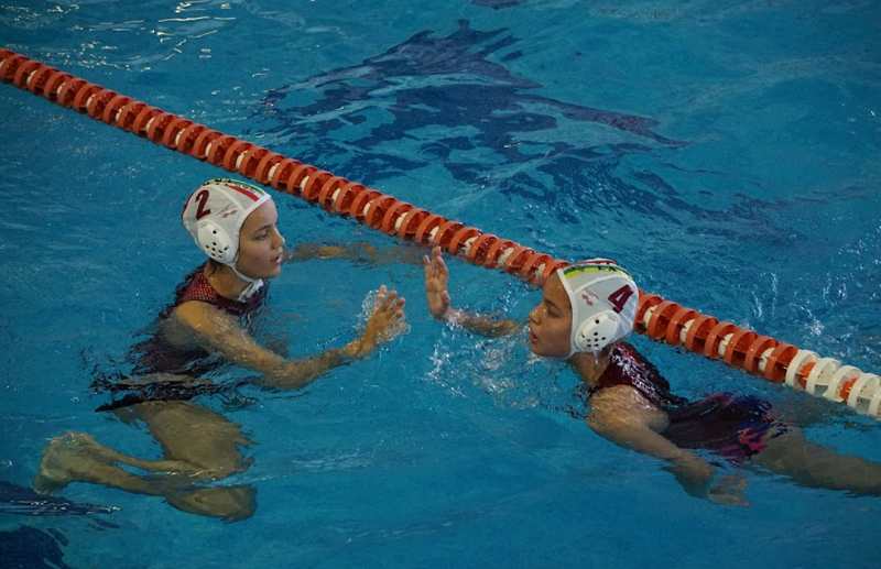 Carolina, Laura y Daniel en el Campeonato Nacional de Waterpolo