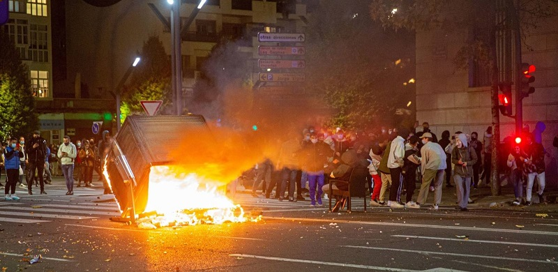 «Noche de disturbios», crónica de una alumna